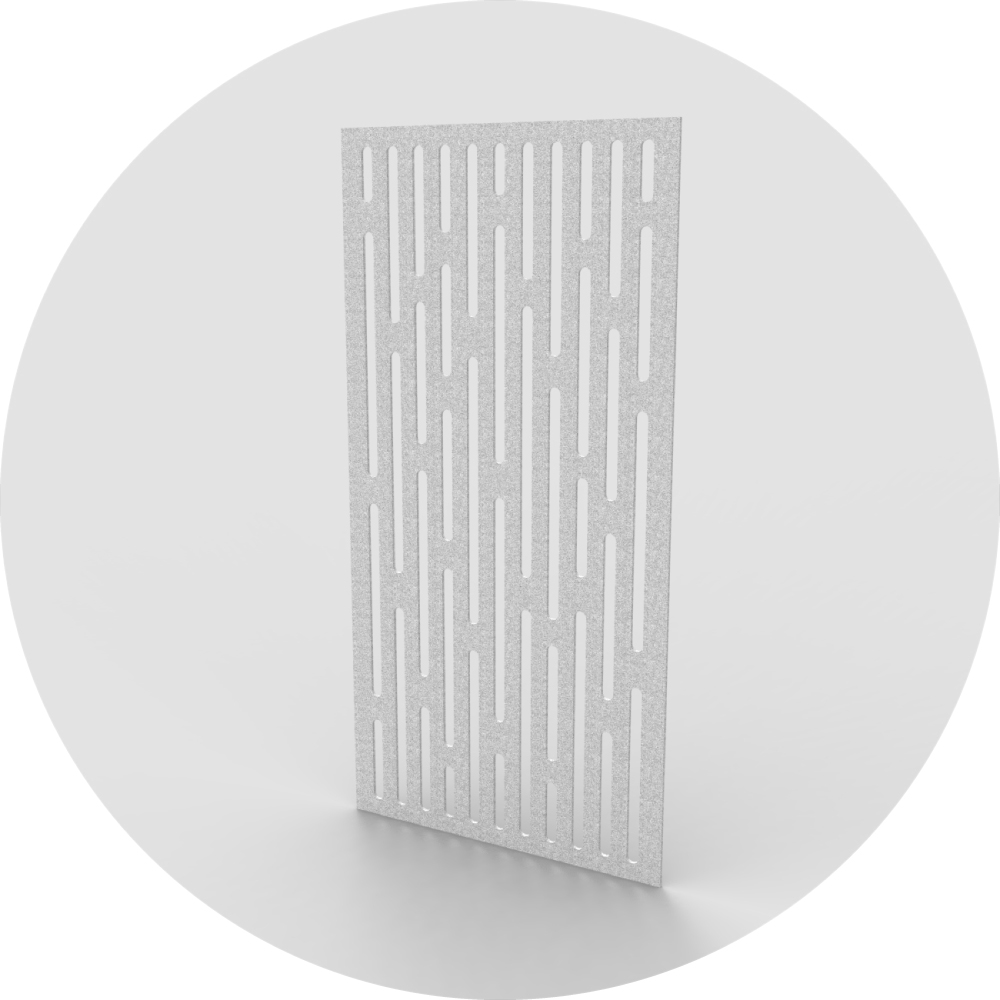 acoustic panel wall covering wall grid