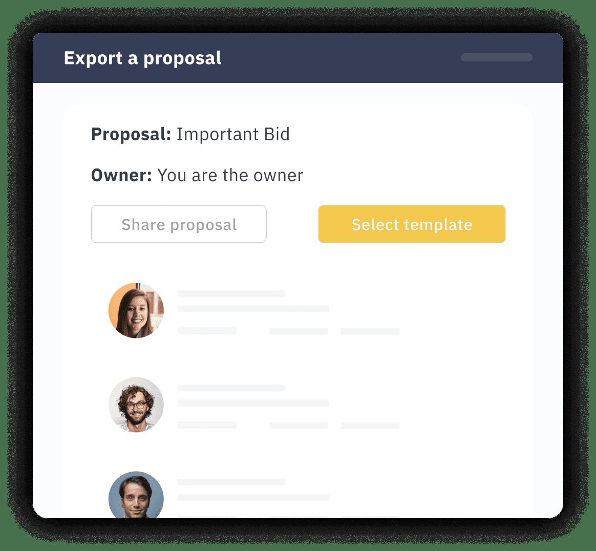 Export a proposal