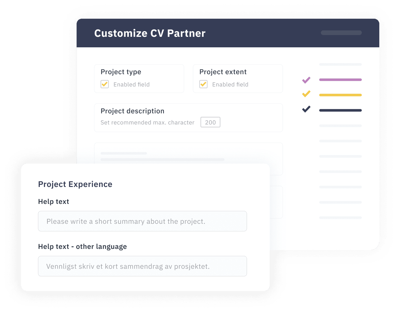 Customize the interface