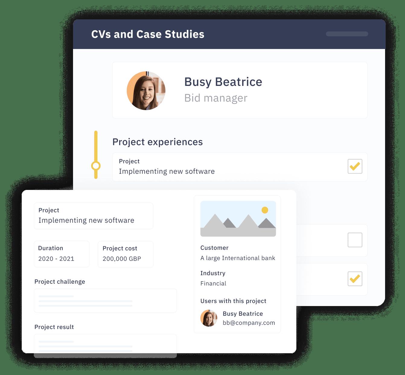CVs and Case studies