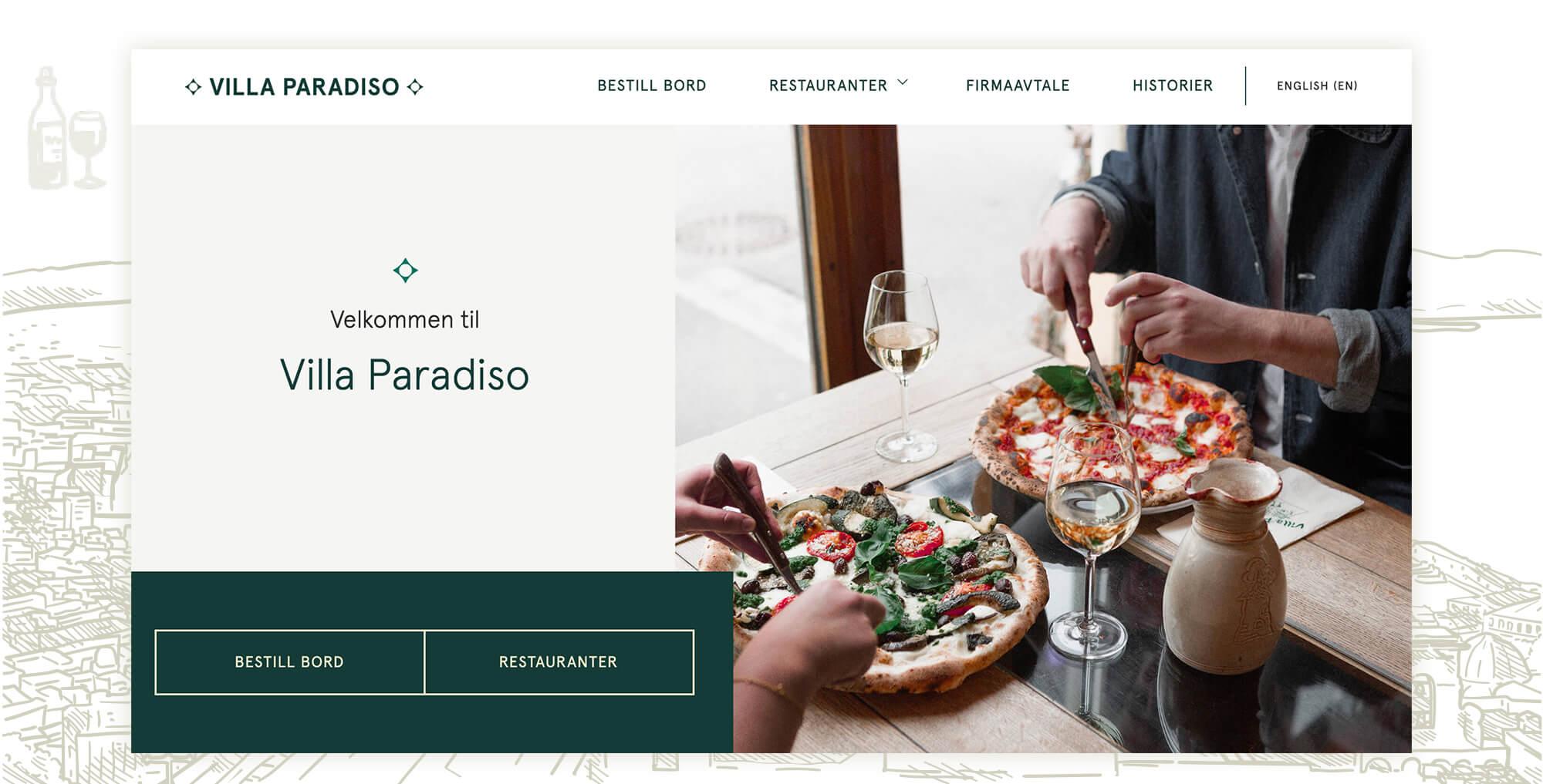 Webdesign for Villa Paradiso