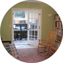 Waiting Area of Chris Vitt Piano Studio
