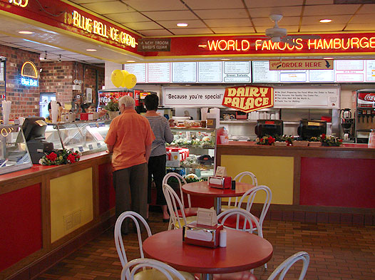 Photo of the lobby and order counter at Dairy Palace