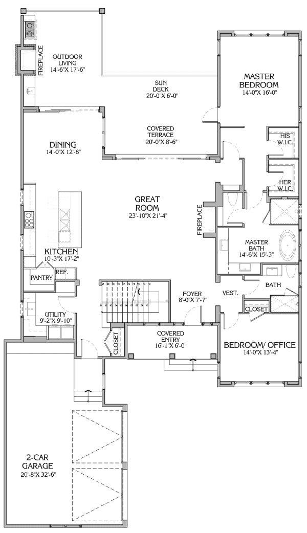 vista plan - floor 1