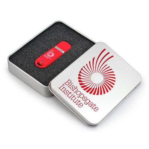 Металлическая коробка для USB флешки без окна