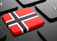 Tastatur med norsk flagg - illustrasjon for Nyno