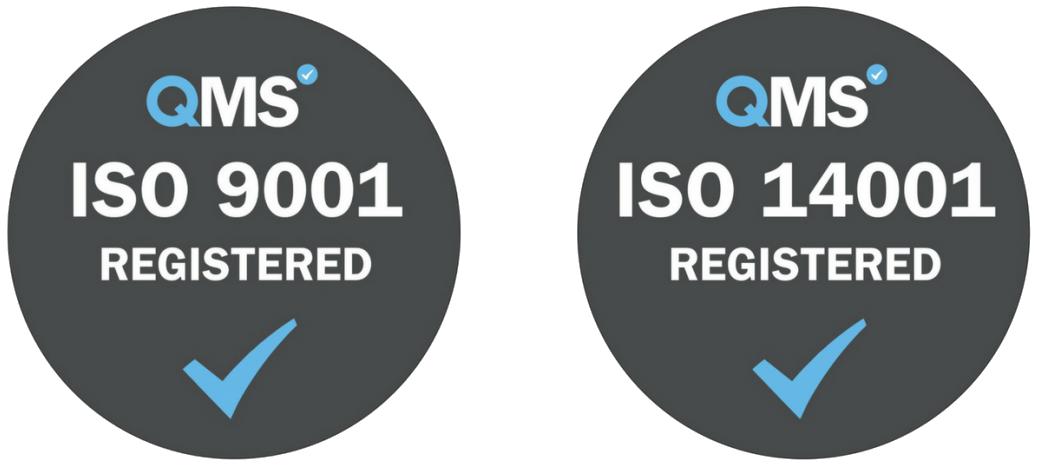 QMS ISO 9001 ISO 14001 Registered