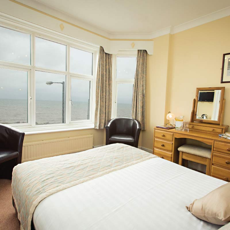 Double room with a sea view at the Cliftonville Hotel, Cromer, Norfolk
