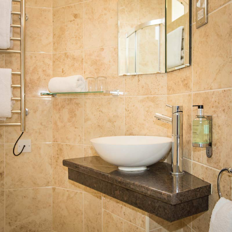 New bathroom at the Cliftonville Hotel, Cromer, Norfolk