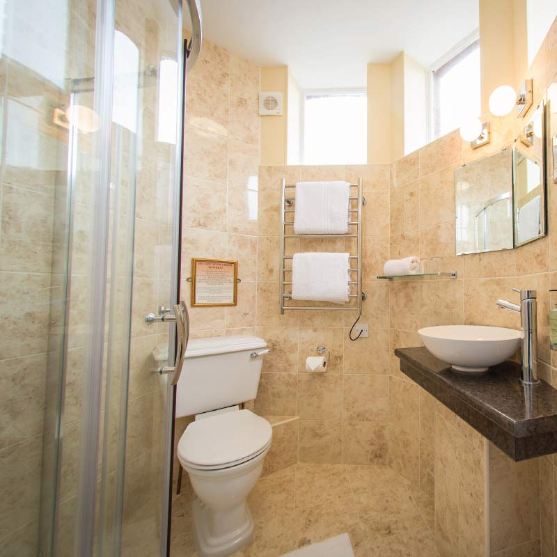 Fully fitted shower room