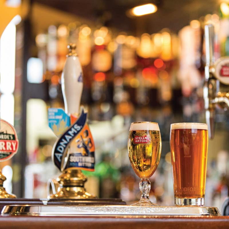 Local ales at the Cliftonville Hotel, Cromer, Norfolk