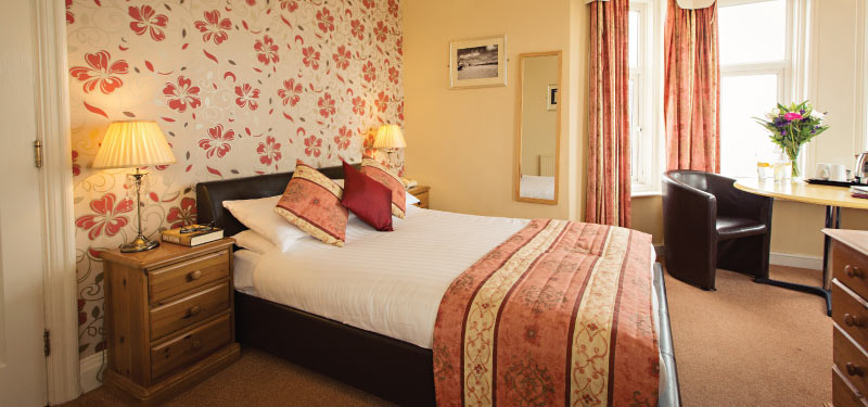 Cosy double at the Cliftonville Hotel, Cromer, Norfolk