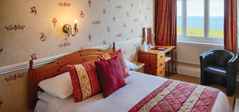 executive single room at the Cliftonville Hotel, Cromer, Norfolk