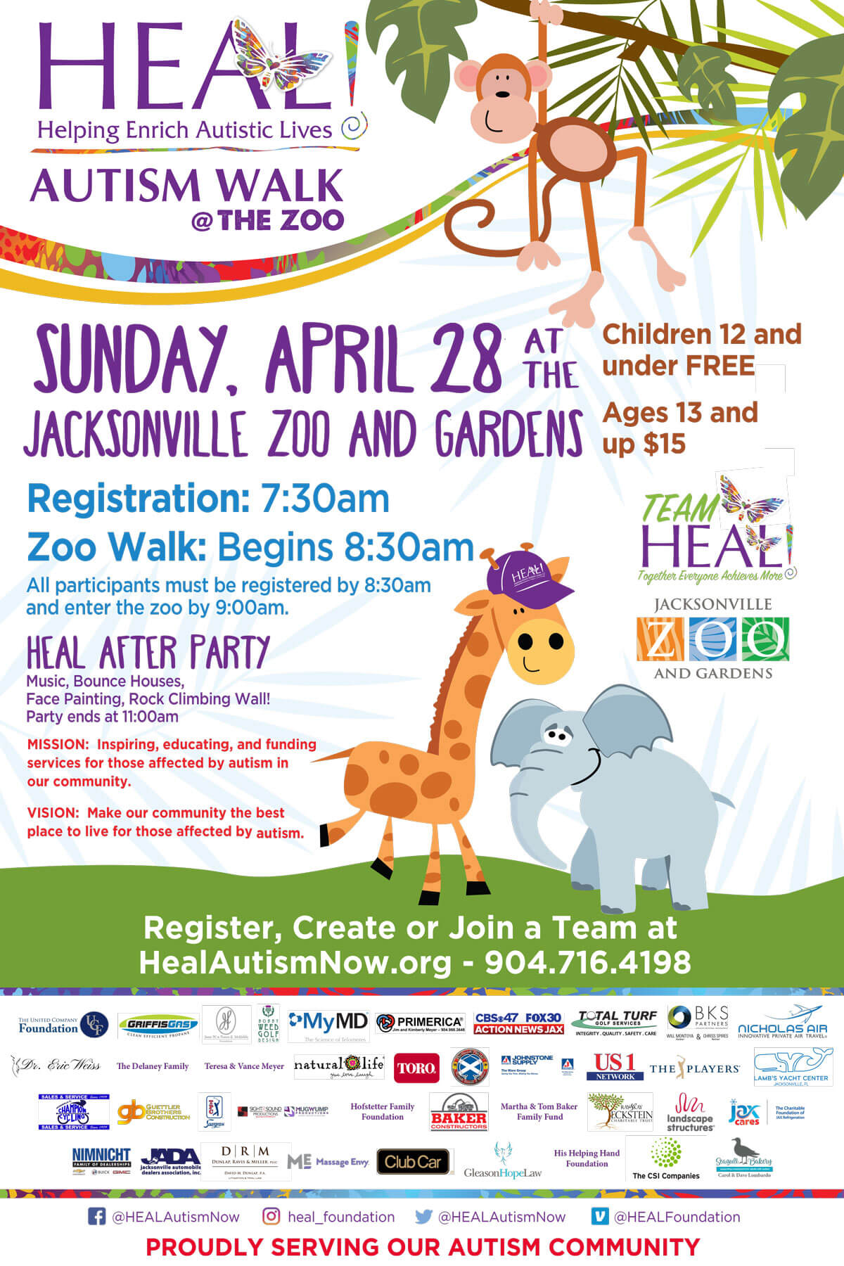 heal zoo walk poster