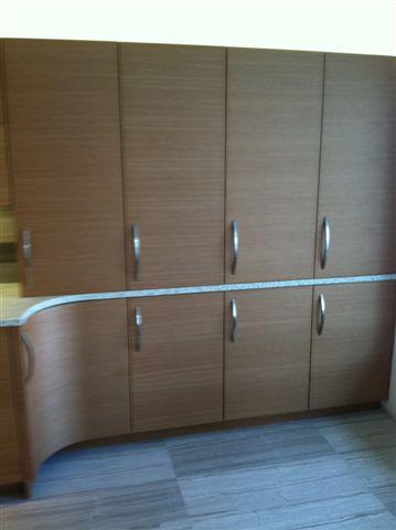 Anigre Wood Veneer Kitchen