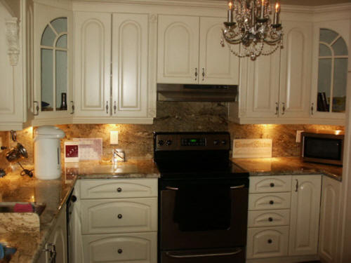 Lacquered MDF with Antique Glaze Kitchen