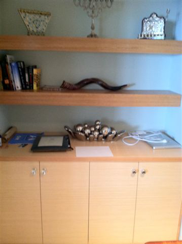 Natural White Oak Office Storage/Display
