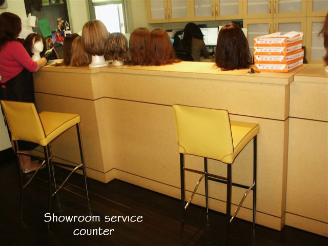 Shevys Wig Salon In New York City – Ricepaper Laminate With Black Lacquer Accents