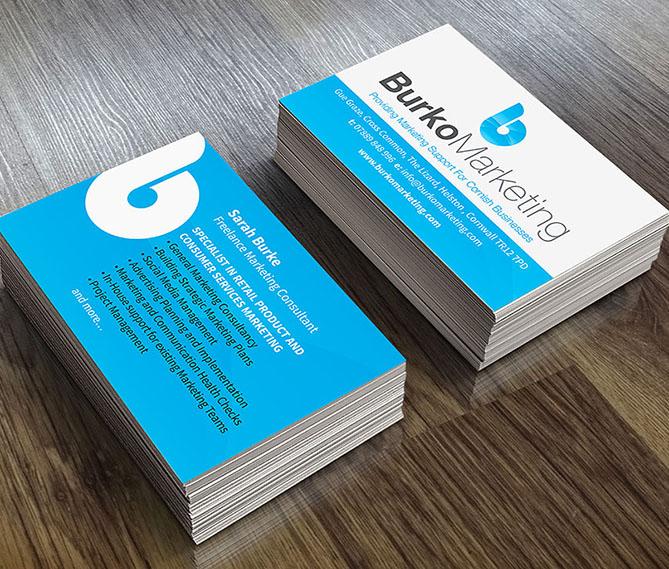 business card design cornwall