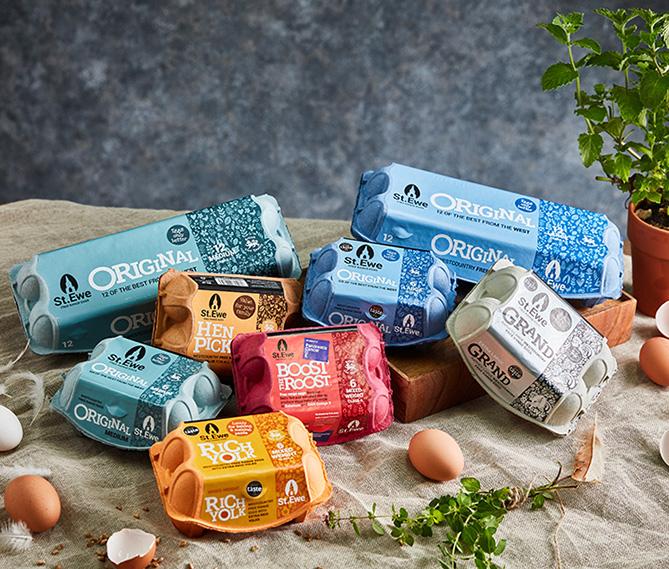 St Ewe Eggs packaging design