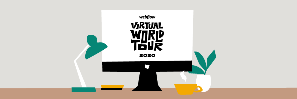Webflow Virtual World Tour Header