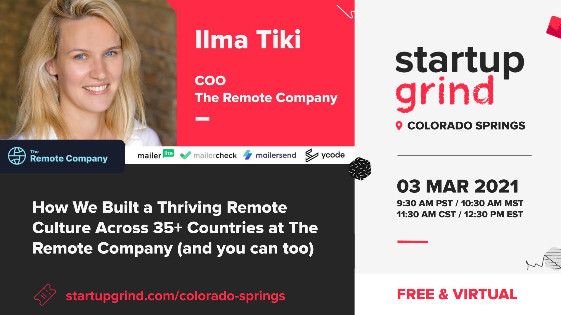 Startup Grind - Ilma Tiki