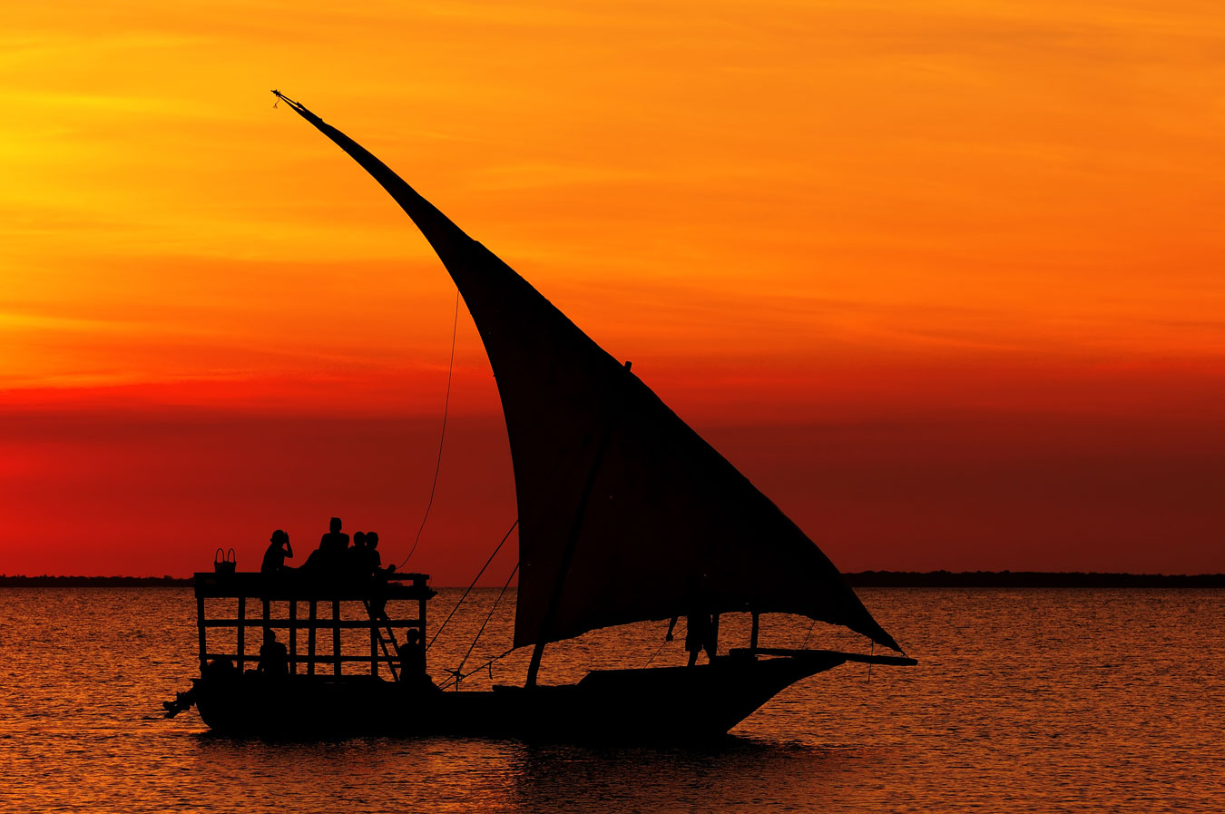 sunset cruise in zanzibar from the Z hotel