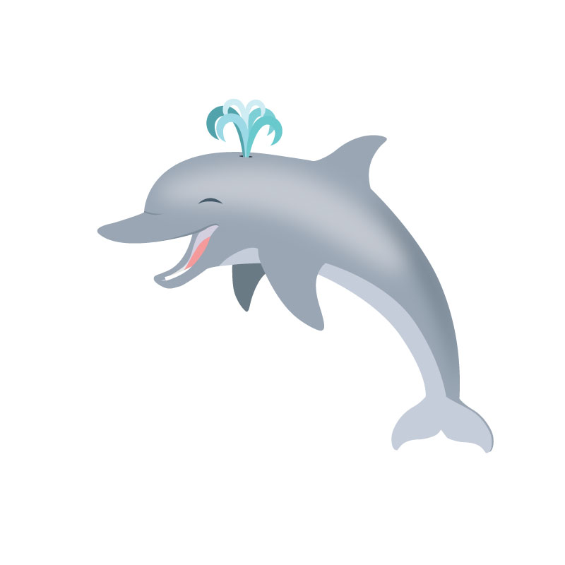 Illustration of a dolphin.