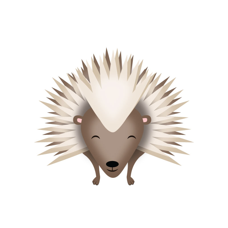 Illustration of a porcupine.