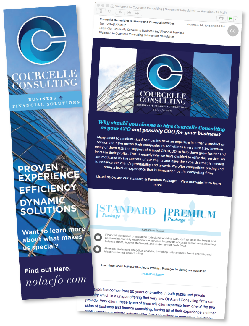 Email Marketing & Design for Courcelle Consulting