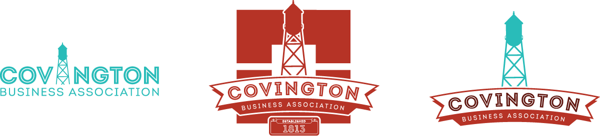 Covington Business Association Logo Variants