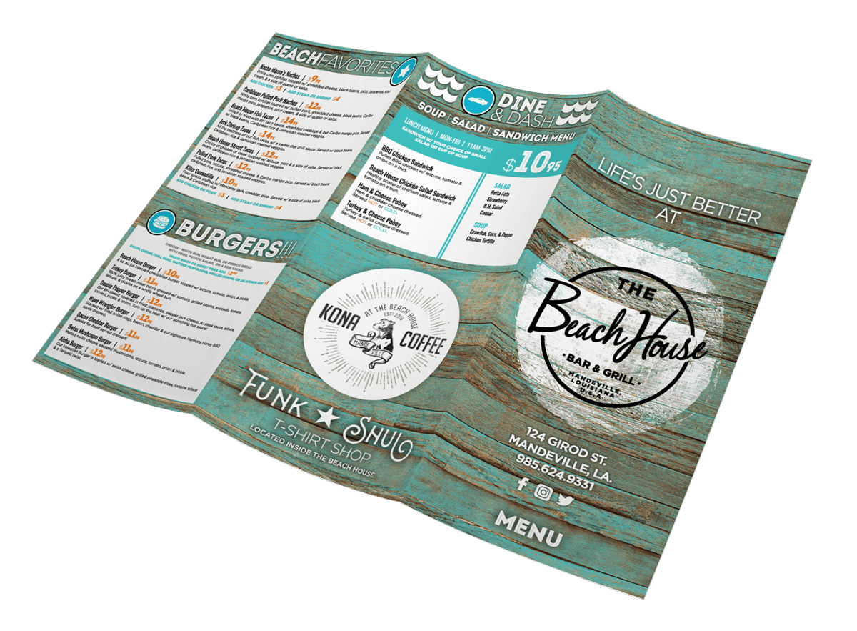 Menu Design for the Beach House