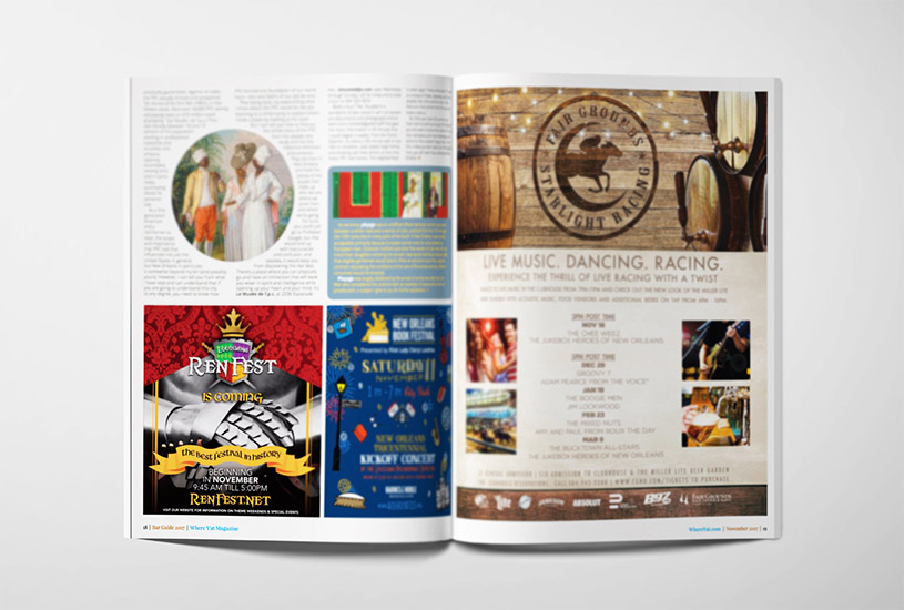 Louisiana Renaissance Festival 2017 advertisement in magazine