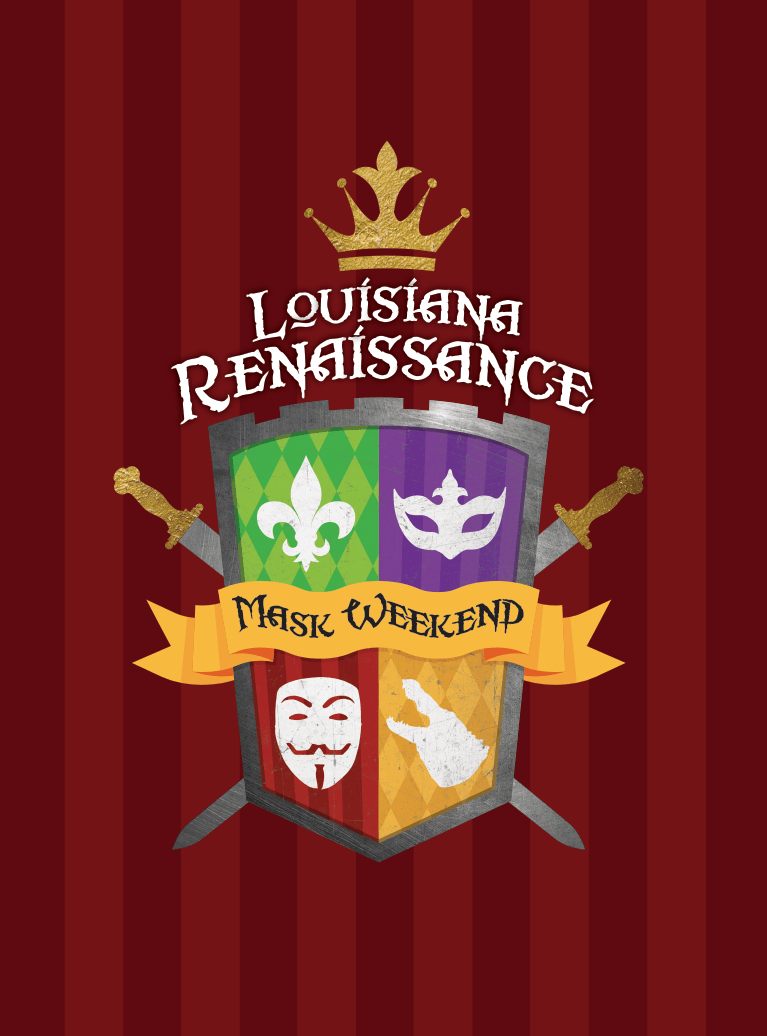 Louisiana Renaissance Festival Mask Weekend Logo
