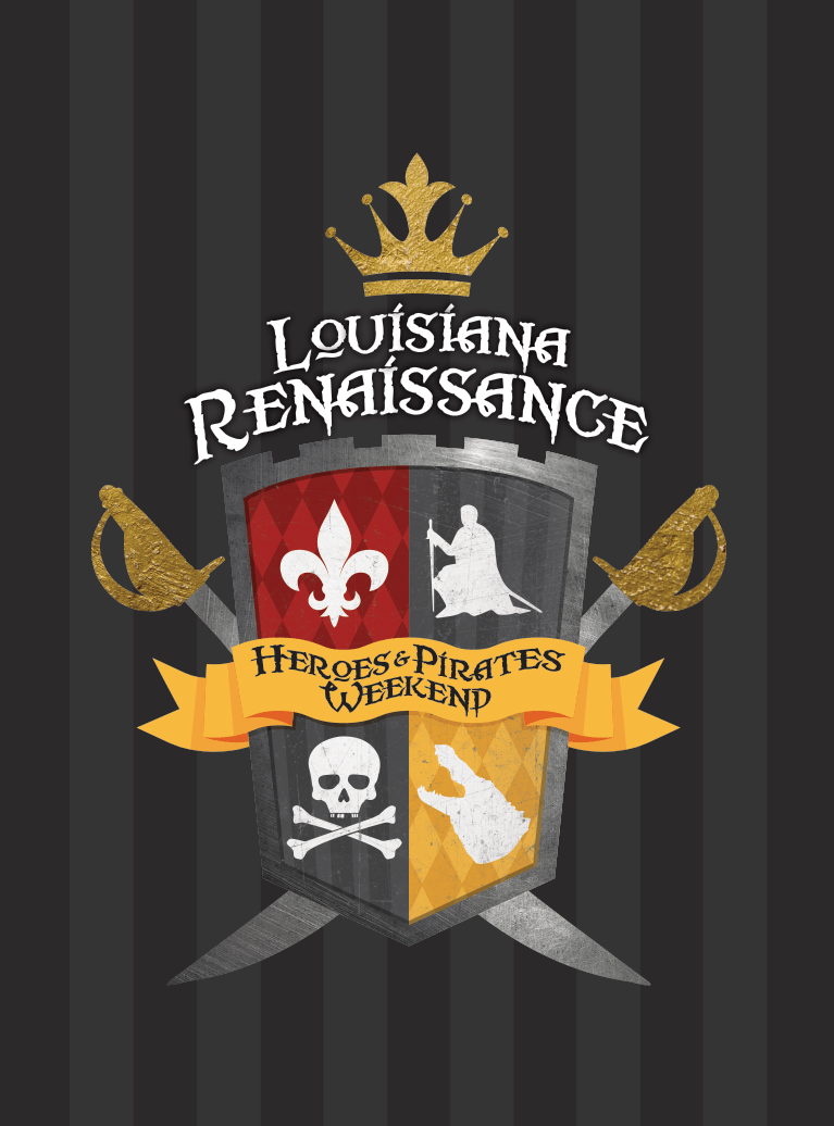 Louisiana Renaissance Festival Heroes & Pirates Weekend Logo