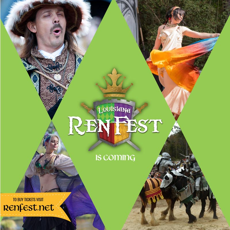 Louisiana Renaissance Festival 2017 social media post