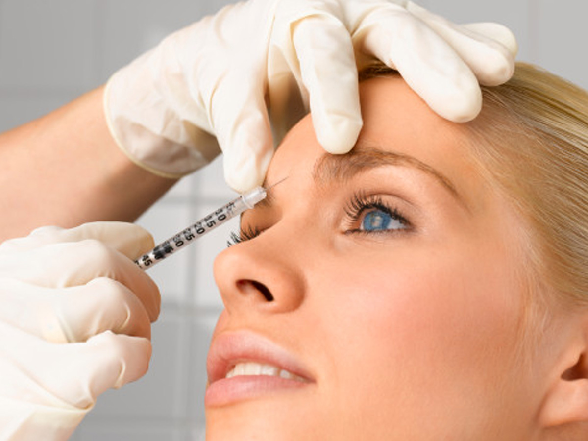 Injection de botox toxine botullique