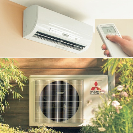 Ductless Heat Pump and Remote