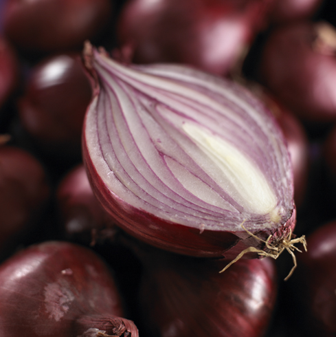 cut red onion