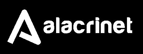 Alacrinet logo - white