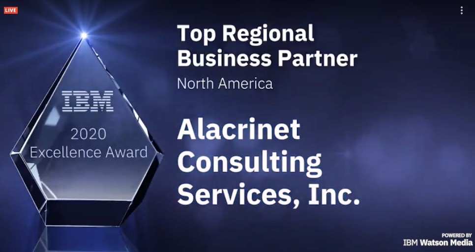 IBM Top REginoal Business Partner North America 2020
