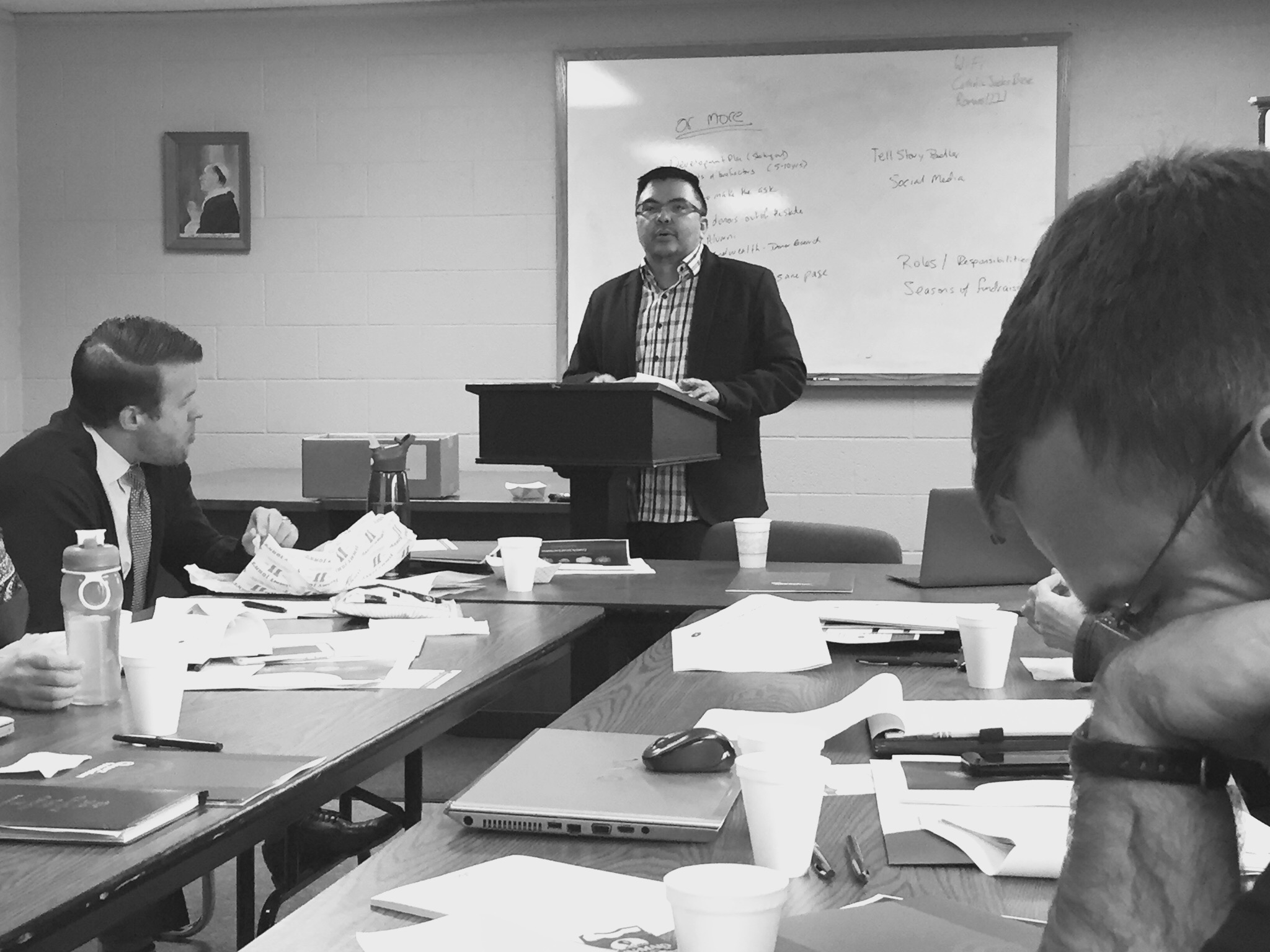 Picture of Dave Leading a Meeting