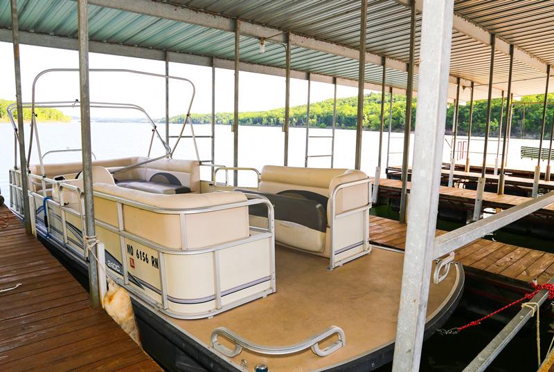 Boat dock slips at the Branson Resort, Bavarian Village