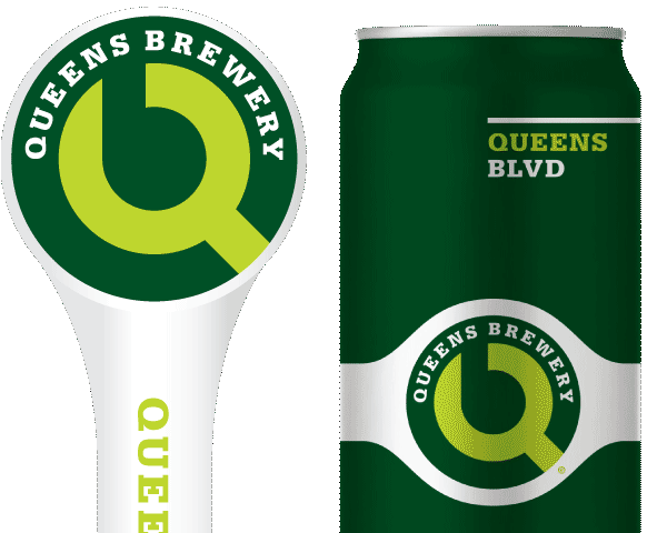 Queens Blvd tap handle and 16oz. can