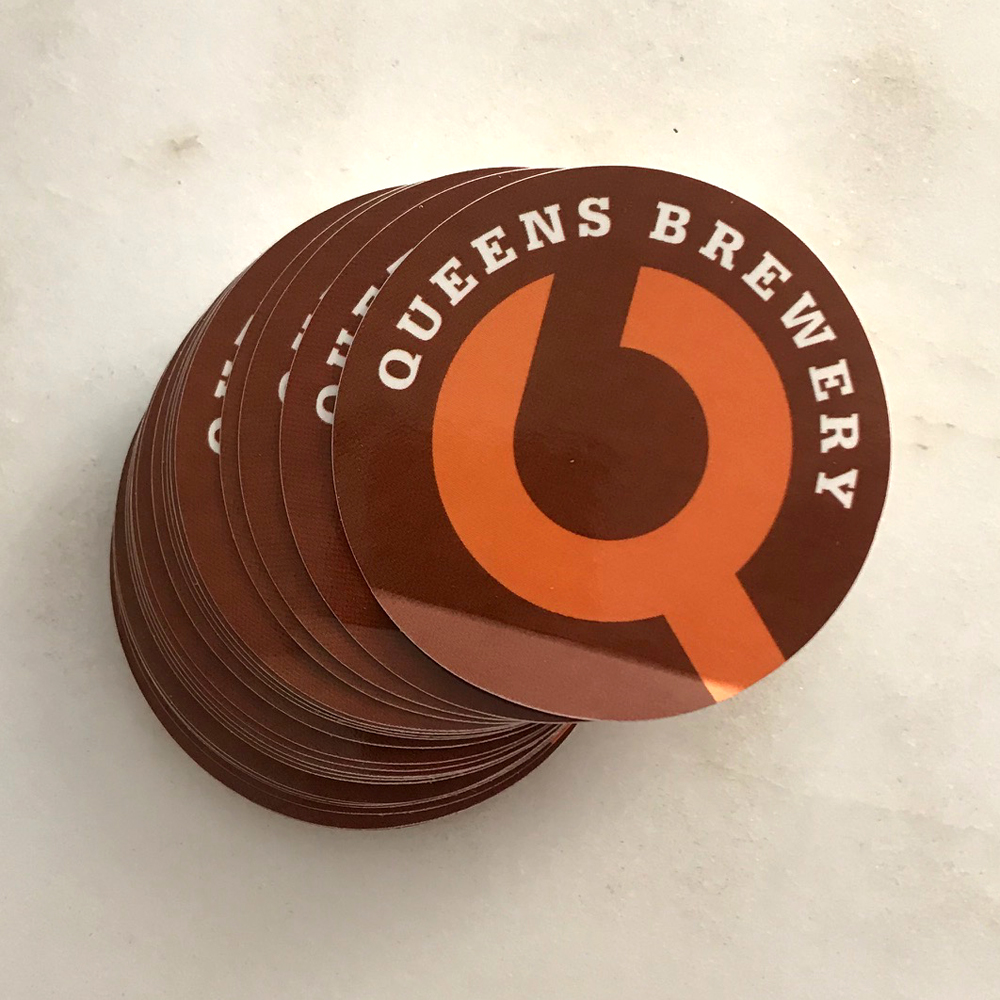 Queens Brewery stickers