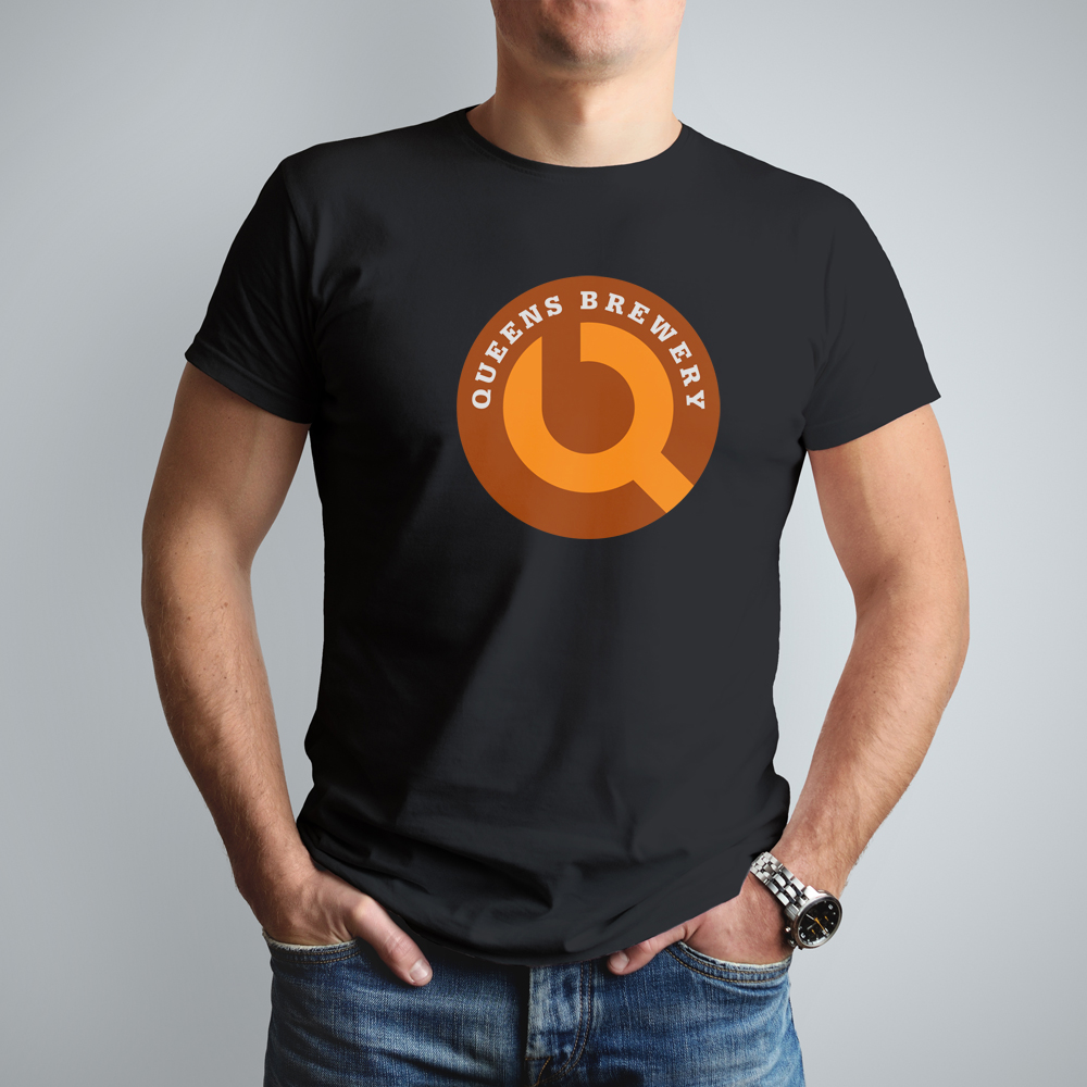 Queens Brewery logo T-shirt