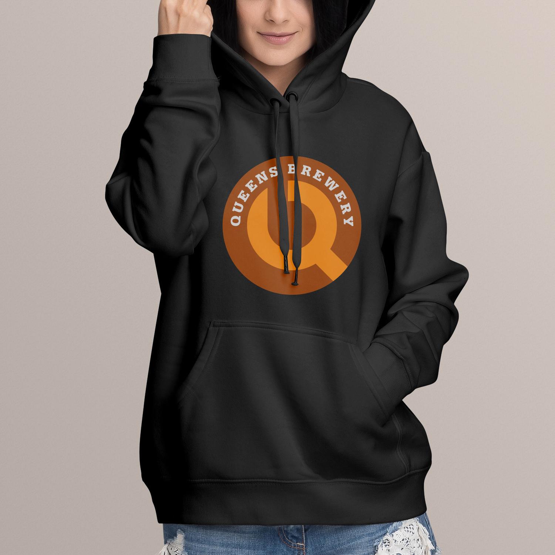Queens Brewery logo hoodie