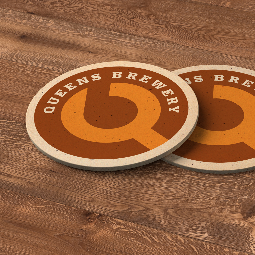 Queens Brewery coasters