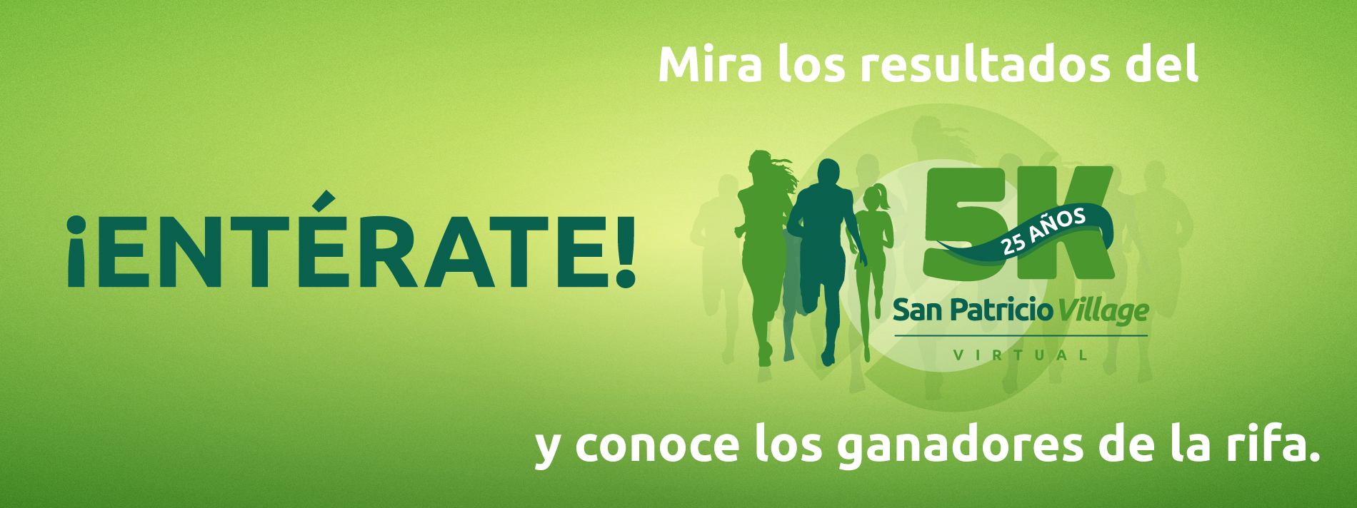 Banner for San Patricio Village Virtual 5K