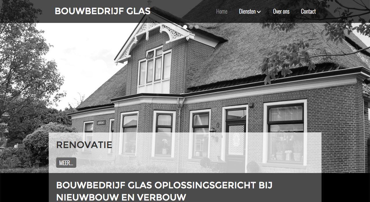 Webdesign Bouwbedrijf Glas